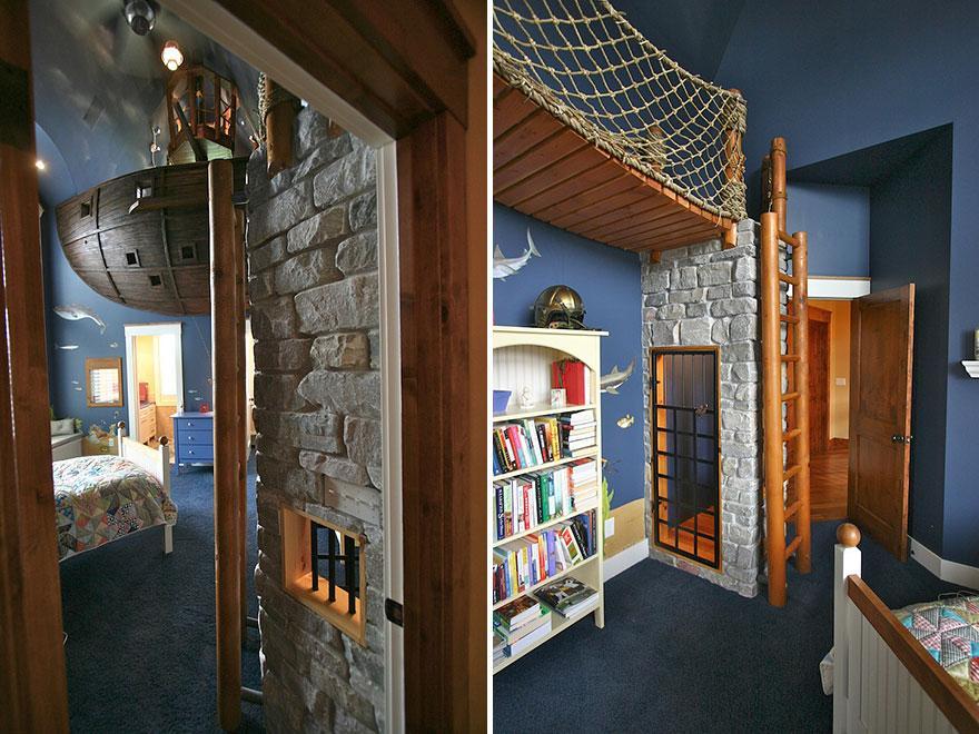 Дизайн пиратских комнат